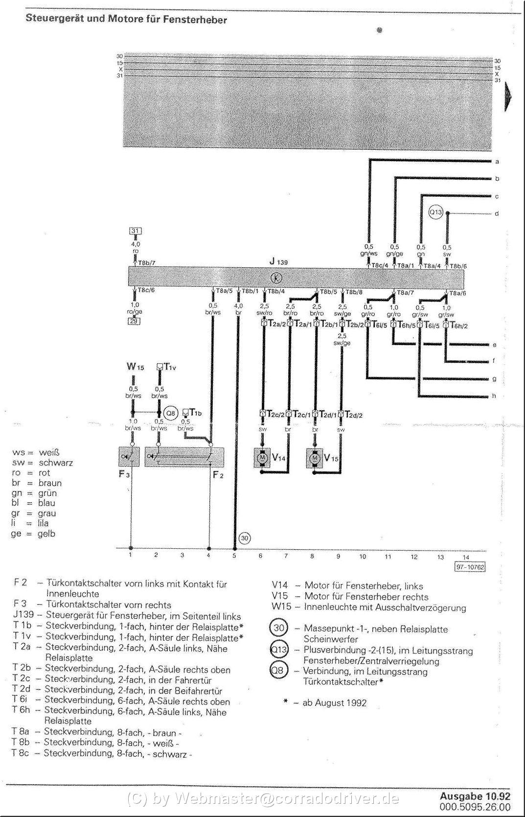 Schaltplan elektrische Fensterheber BJ 89-95