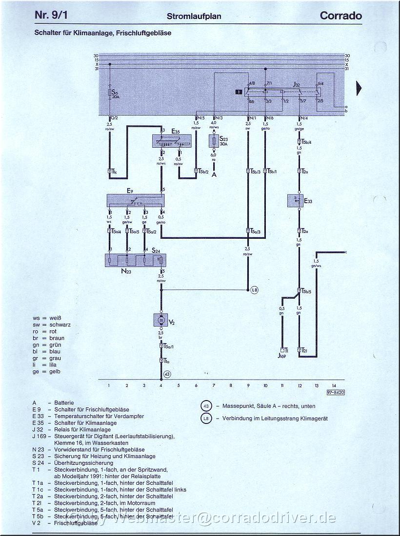 schaltplan klimaanlage corrado bj 89 91. Black Bedroom Furniture Sets. Home Design Ideas